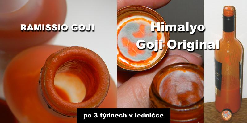 srovnání Ramissio Goji a Himalyo - plíseň po 3 týdnech v ledničce
