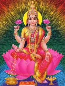 Bohyně hojnosti Lakshmi