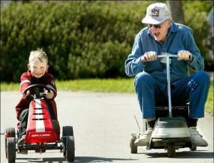 dítě s dědou